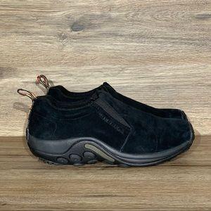 NEW Merrell Jungle Moc Black Suede Slip-on Shoe 9W